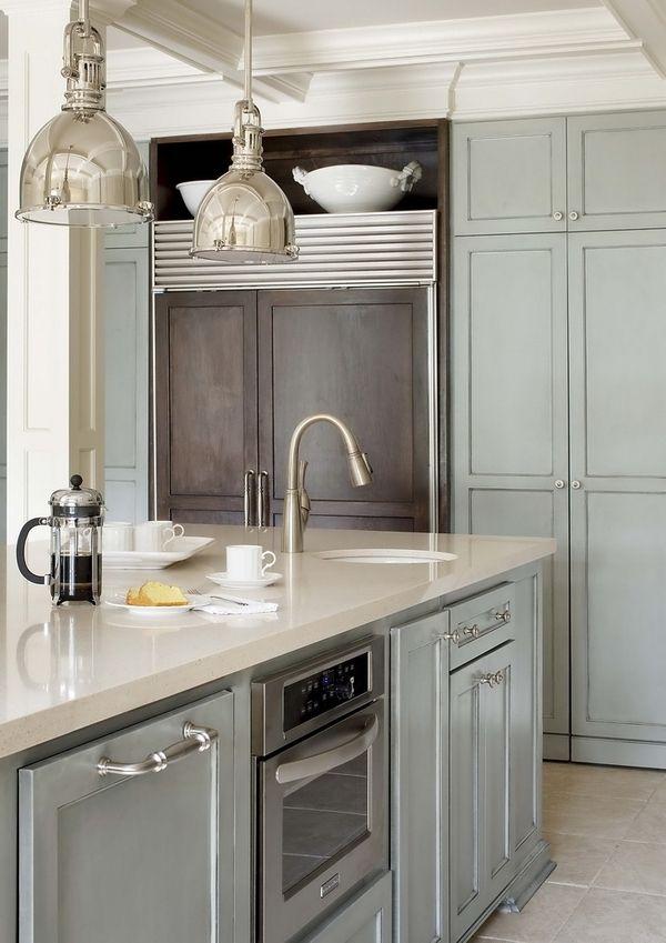 soft blue in kitchen.  Divine. lisalabon