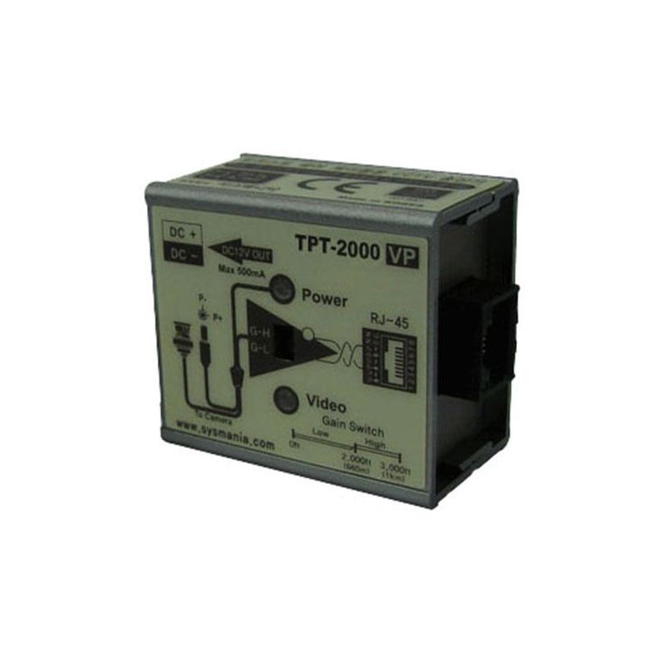 Sysmania UTP TPT-2000VP Twisted Pair Cable Transmitter with Video & Power New #SysmaniaAllimex