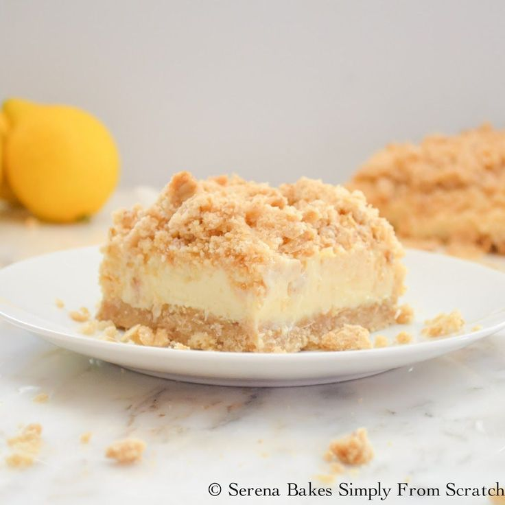 A creamy lemon cheesecake filling with a crumb topping make these Creamy Lemon Cheesecake Crumb Bars extra special.