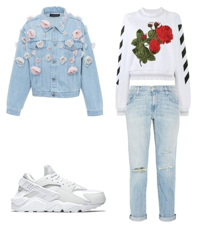 """Untitled #48"" by ionescu-alexandra25 on Polyvore featuring Off-White, Current/Elliott, NIKE and Anouki"