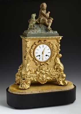 Lot: French Gilt and Enameled Clock, Lot Number: 0260, Starting Bid: $500, Auctioneer: Case Antiques, Inc. Auctions & Appraisals, Auction: Winter Fine Art & Antique Auction , Date: January 24th, 2015 CET