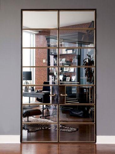 This mirrored door is everything! | Nate Berkus Interiors