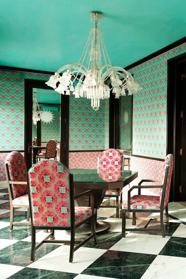 The Maharani dining room at Rajmahal Palace, Jaipur