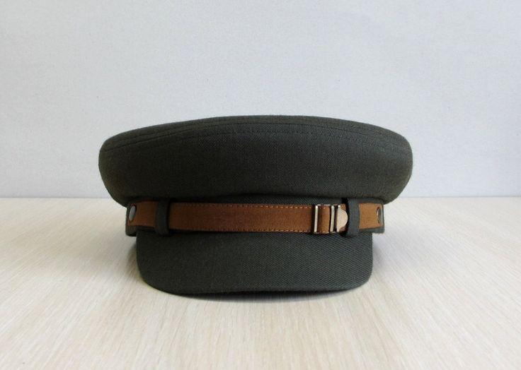 Military cap Fiddler Cap Fishermans Hat Mens Cap by VITArty