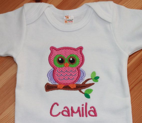 Baby Girl Owl Outfit - Pink Owl - Girl Owl Shirt - Baby Girl Clothes - Personalized Baby Girl Bodysuit - Toddler Shirt - Shower Gift