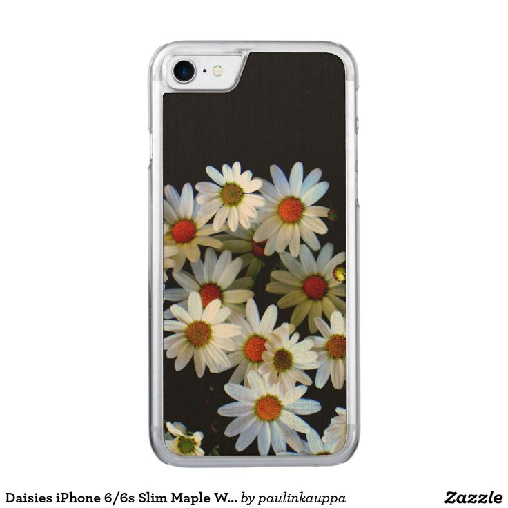 Daisies Carved Apple iPhone 7 Wood Case