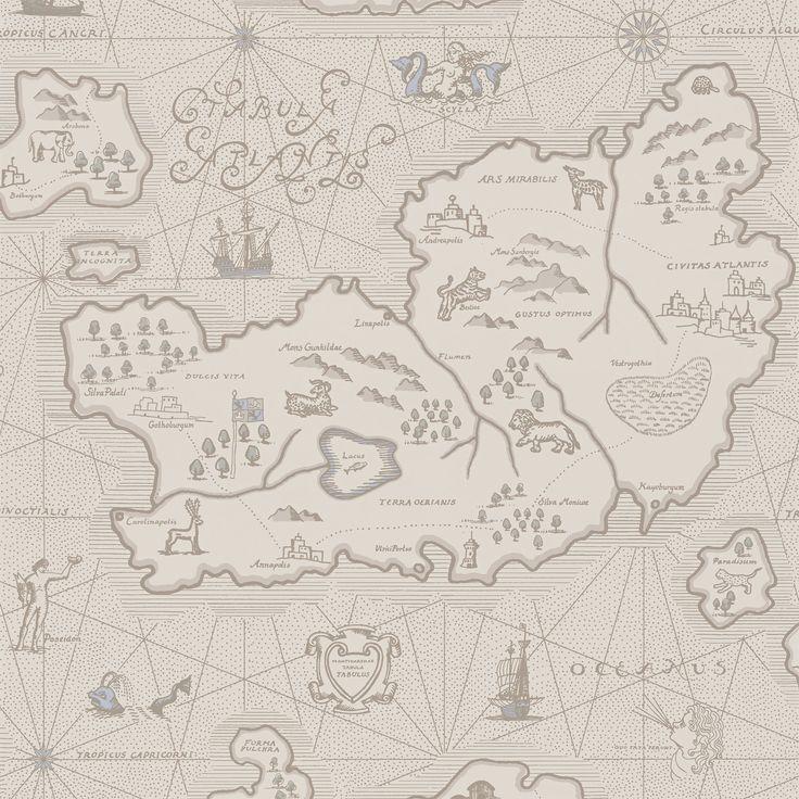 Sandberg har en egen sagovärld, här är det Atlantis som stått modell. I Ferdinald möter du några av djuren i vårt populära tyg Leonard, blandat med grekisk mytologi i gamla skepp.