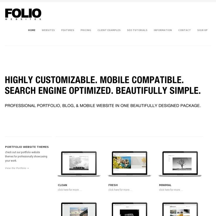 Folio Websites is a portfolio building website for creating mobile and professional photography websites - http://foliowebsites.com/