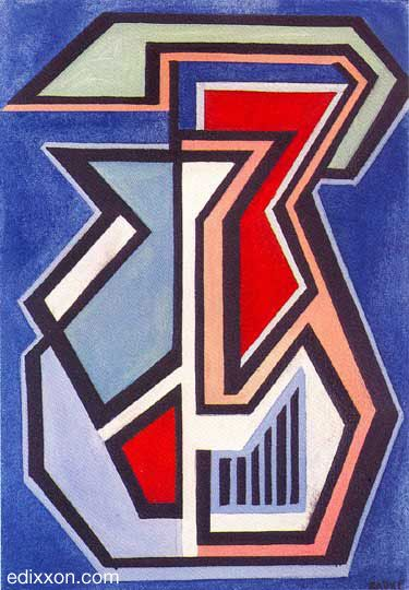 "Mario Radice - Opere - ""A.N.F."", 1945, olio su tela, cm 50x35...."