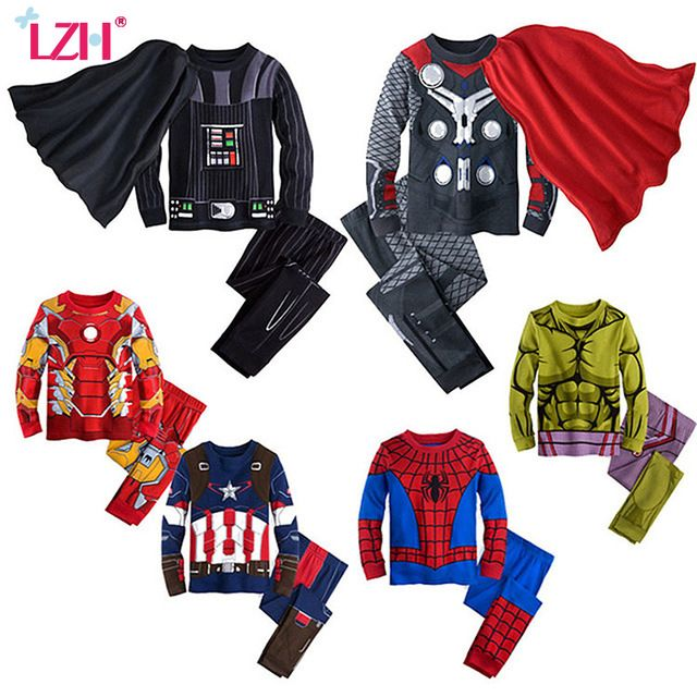 Price Drop $9.18, Buy LZH Children Clothing 2017 Autumn Winter Kids Boys Clothes Spiderman T-shirt+Pant Outfit Suit Christmas Costume For Boy New Year