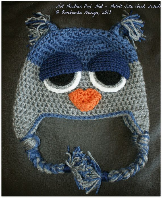 Not ANOTHER Owl Hat Crochet Pattern.  (Child to Adult)