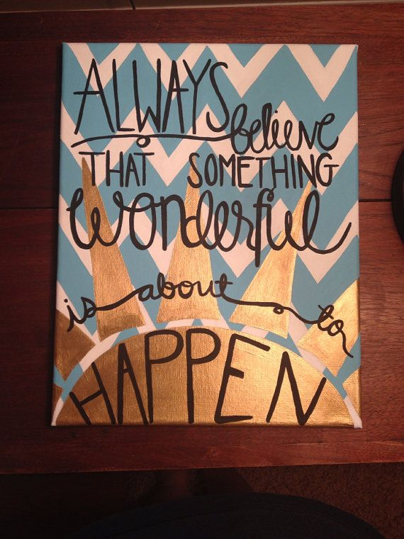 Positive canvas quote by APassionforPainting on Etsy, $30.00
