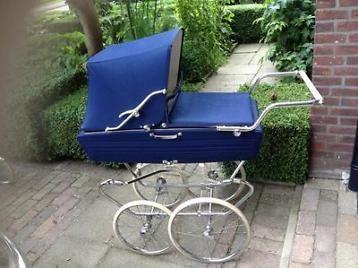 Vintage broccante kinderwagen zgan