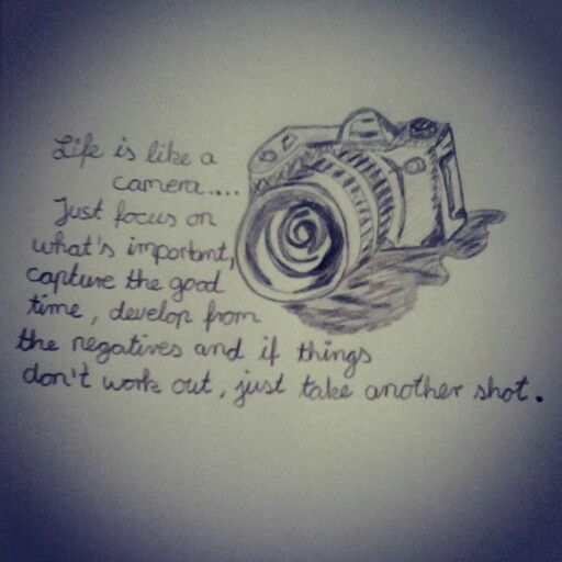 Life is like a camera......