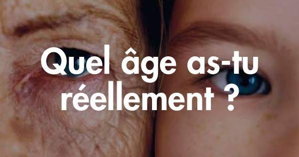 Test. Qui n'a jamais eu cette étrange sensation, en entendant évoquer son age, que l'on parlait de quelqu'u...