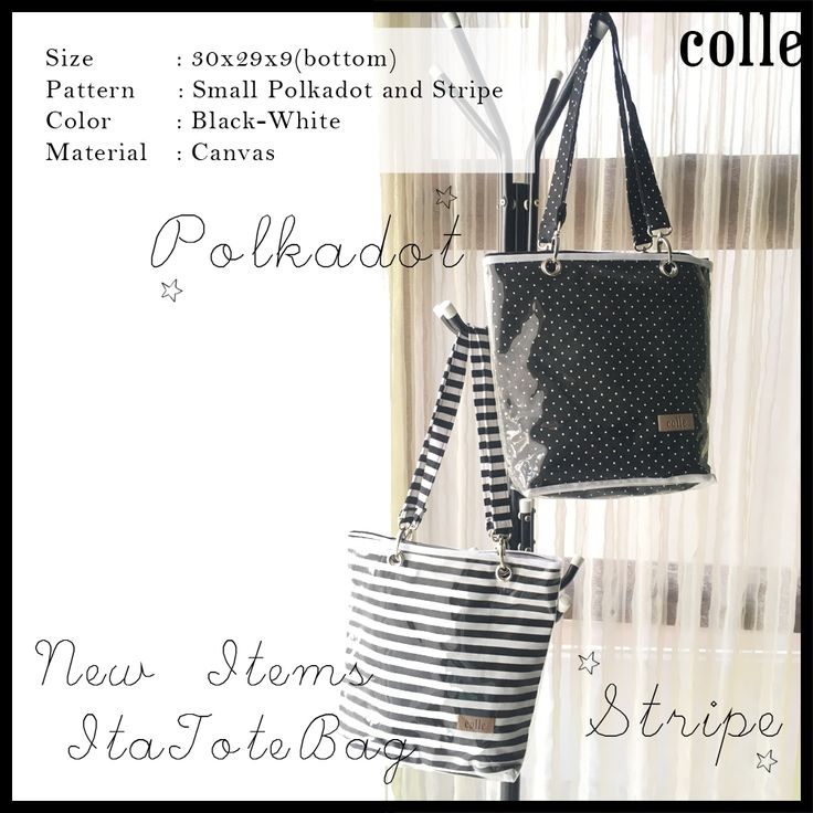 The product Itabag Casual Tote Bag Monochrome Black And White Stripe is sold by colle.id in our Tictail store. Tictail lets you create a beautiful online store for free - tictail.com