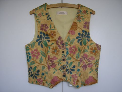 Gold Floral Ladies Waistcoat 10-12