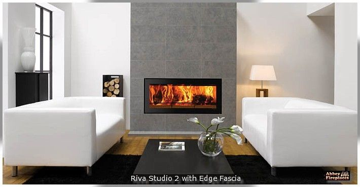 The Stovax Riva Studio 2 inbuilt wood heater by Abbey Fireplaces.