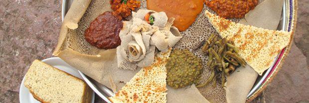 Injera, pan etíope de teff, receta