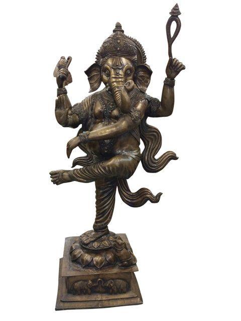 Antique Hindu Lord Statue Dancing Sculpture Garden by MOGULGALLERY