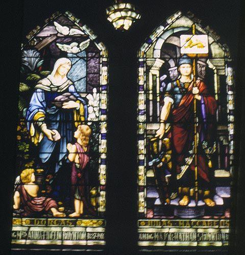 judas maccabeus | Window Name: Dorcas and Judas Maccabeus