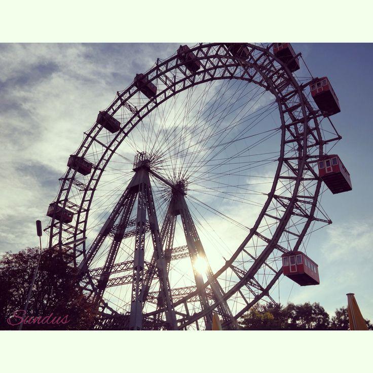 "The giant wheel ""Wiener Prater"" in Vienna ."