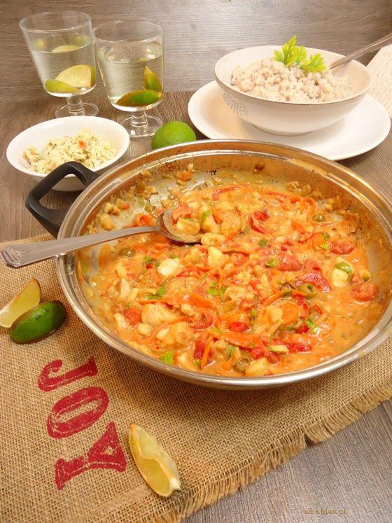 Gulasz rybny, zupa rybna, pikantna zupa rybna, pyszna zupa rybna, gulasz rybny z warzywami, obiad na piątek, obiad na piątek bez mięsa