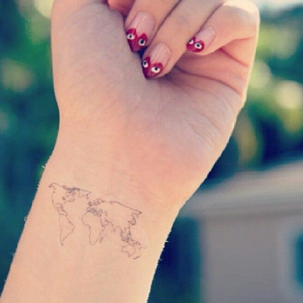 Small World Map Tattoo: Spirit Ink Temporary Tattoos