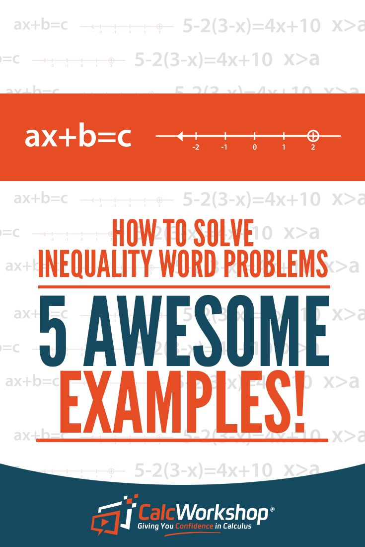 How to solve inequality word problems 5 awesome examples