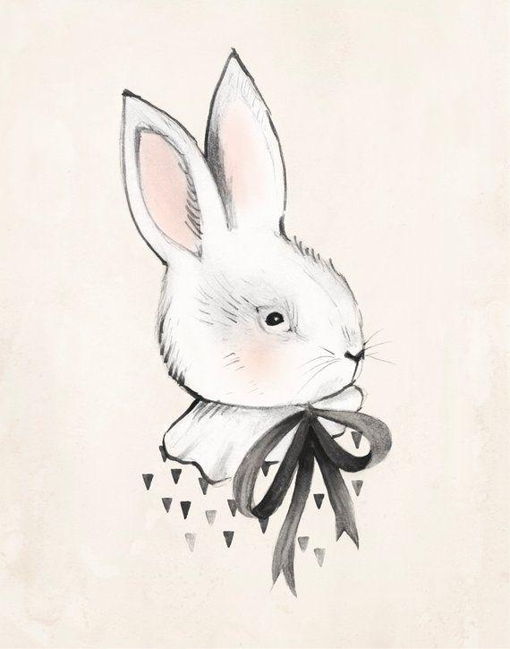 Как нарисовать кролика смешного, почтовых открыток