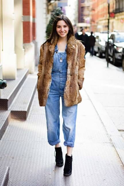Overalls are poised to make a comeback this spring #streetstyle
