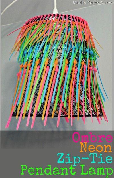 Ombre Neon ZipTie Pendant Lamp
