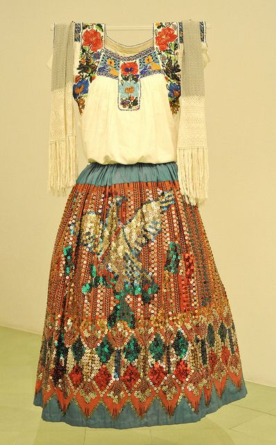 China Poblana Mexico by Teyacapan on Flickr.    museo textil de oaxaca