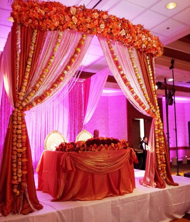 Another idea...great indoor mandap but can do more draping and not as much flowers.