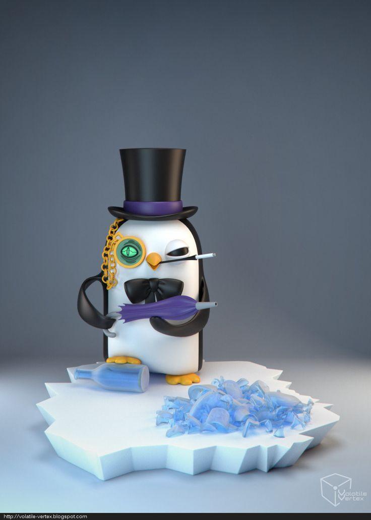 Gunter The Penguin, Volatile Vertex on ArtStation at https://www.artstation.com/artwork/PmGeB
