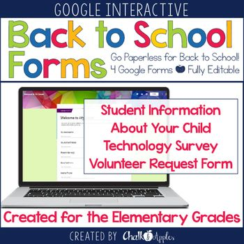 Go paperless for Back to School with these digital forms in Google Drive! #tptdigitalsale The back to school season is always filled with form after form for parents to fill out, and teachers to keep up with. This year, cut the copies, and go paperless with digital back to school forms that automatically create spreadsheets of student information in Google Drive.