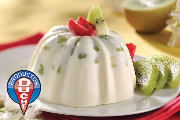 Gelatina de Yogurt con Kiwi