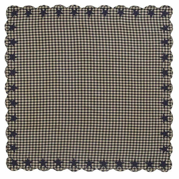 Black Star Scalloped Table Cloth 60x60