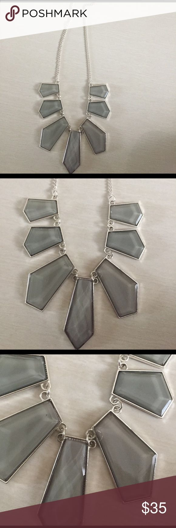 Gray Stone Bib Necklace Gray stone Bib Necklace. New without tags! Make an offer! Jewelry Necklaces