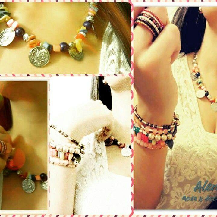 #Collar #pulseras #anillo