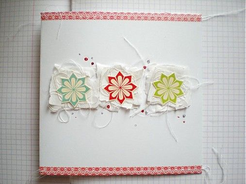 luciabarabas / Vianočná pohľadnica s farebnými vločkami