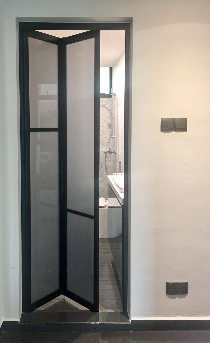 Bathroom And Toilet Bifold Door In 2019 Ezi Door Ezi