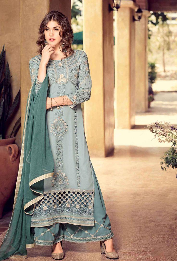 Dove Georgette Shalwar Kameez #sales #offers #valentinesalesoffer #valentinesale #valentinegift #dress #onlineindiandress #sale#nikvik #freeshipping #usa #australia #canada #newzeland #Uk #UAE