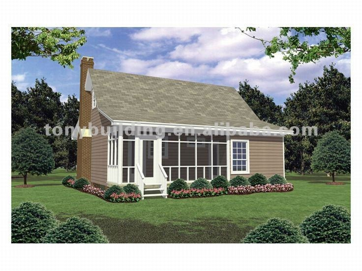 Small modular cottages prefab cottage house pefabricated for Modular cabins and cottages