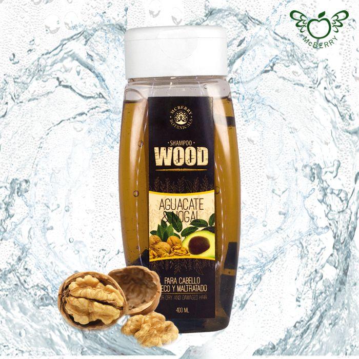 ¡Ultra nutritivo, ultra natural! ¡Pruébalo ya!   La fórmula WOOD con aceite de aguacate y nogal ayuda a reducir la pérdida de proteínas en el cabello y a reparar las cutículas previniendo las puntas abiertas.