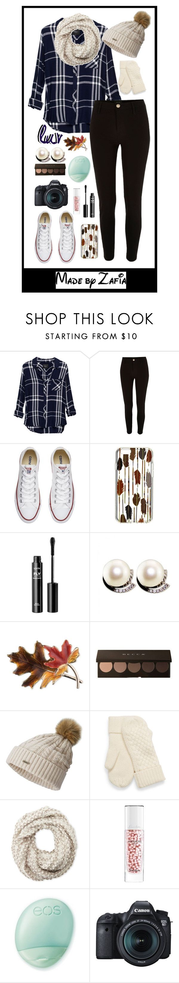 """""""✧,'-' Cause it's Friday night, you're not that type"""" by xo-zafia-xo ❤ liked on Polyvore featuring Rails, River Island, Converse, Vera Bradley, NYX, Anne Klein, SOREL, Cejon, Guerlain and Eos"""