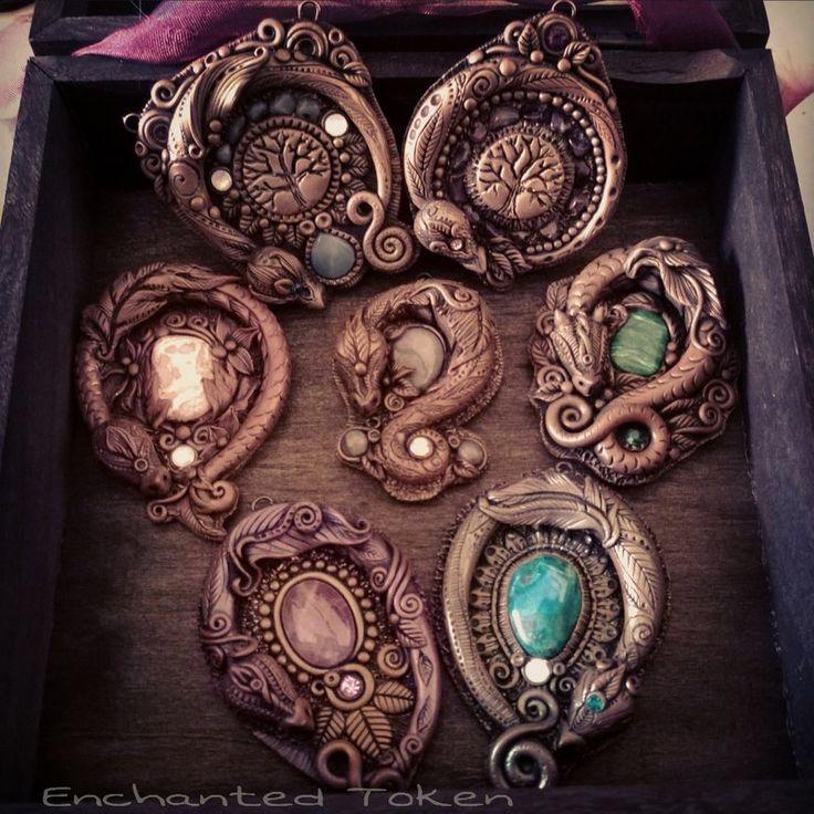 Dragon Pendant Preview by EnchantedTokenArt.deviantart.com on @deviantART