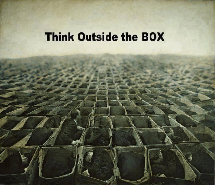 think outside the box  #quote #cytat