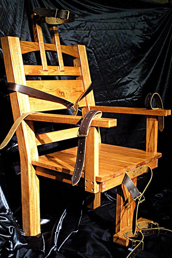Old Sparky Electric Chair Replica. Gothic Bondage Fetish Restraint Dining Occasional on Etsy, $1,400.00