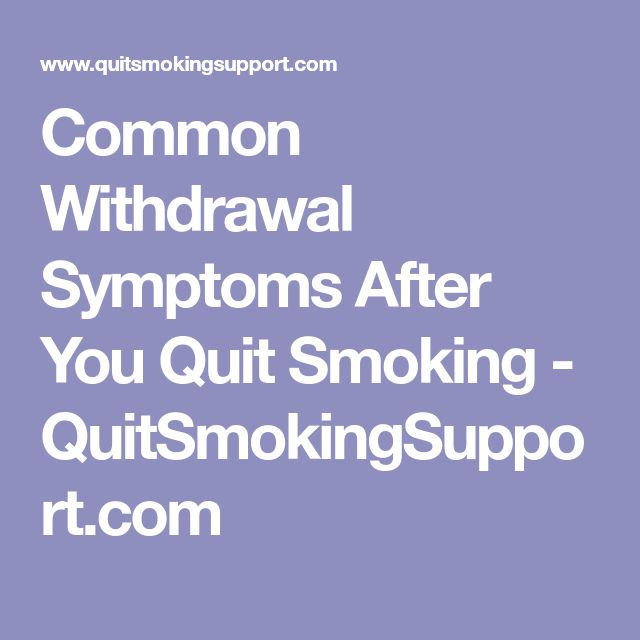 Common Withdrawal Symptoms After You Quit Smoking - QuitSmokingSupport.com